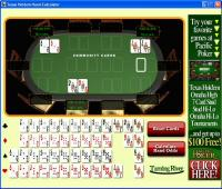 Texas Holdem Hand Calculator 1.0 screenshot. Click to enlarge!