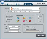 ThunderSoft Flash to HTML5 Converter 2.5.0 screenshot. Click to enlarge!