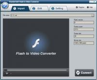 ThunderSoft Flash to Video Converter 2.5.0 screenshot. Click to enlarge!