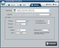 ThunderSoft SWF to GIF Converter 2.4.7 screenshot. Click to enlarge!