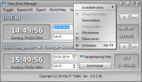 Time Zone Manager 2.1.4.42 screenshot. Click to enlarge!