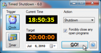 Timed Shutdown 6.12 screenshot. Click to enlarge!