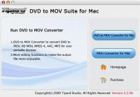 Tipard DVD to MOV Suite for Mac 3.2.08 screenshot. Click to enlarge!