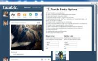 Tumblr Savior for Chrome 0.4.11 screenshot. Click to enlarge!