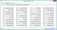 Ultimate Settings Panel 5.7 screenshot. Click to enlarge!