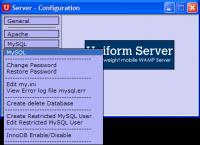 Uniform Server Zero XIII 13.3.2 screenshot. Click to enlarge!