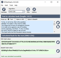 VSTextHash 1.1.3.69 screenshot. Click to enlarge!