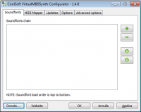 VirtualMIDISynth 1.15.0 screenshot. Click to enlarge!