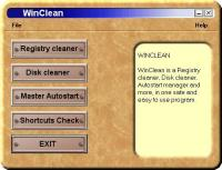 WinClean 2.0 screenshot. Click to enlarge!