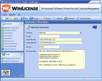 WinLicense 2.3.4.0 screenshot. Click to enlarge!