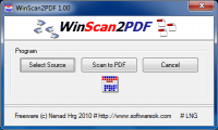 WinScan2PDF 3.48 screenshot. Click to enlarge!