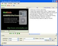 WinXMedia AVI/MPEG iPod Converter 2.1g screenshot. Click to enlarge!