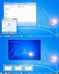 Windows 8 Professional Edition Theme RC1 Build 7.0.1128 screenshot. Click to enlarge!