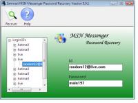 Windows Live Messenger 8 Password Recovery 5.0.1 screenshot. Click to enlarge!