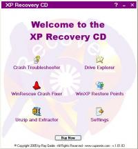 XP Recovery CD Maker 1.01.10 screenshot. Click to enlarge!