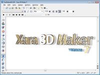 Xara 3D Maker 7.0 screenshot. Click to enlarge!