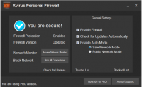 Xvirus Personal Firewall 4.5.0.0 screenshot. Click to enlarge!