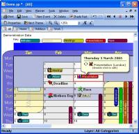 YearPlanner 2.5.8 screenshot. Click to enlarge!