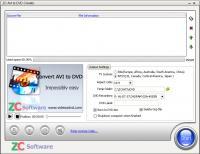 ZC AVI to DVD Creator 6.6.4 screenshot. Click to enlarge!