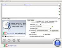 ZC DivX to DVD Creator 6.6.6 screenshot. Click to enlarge!