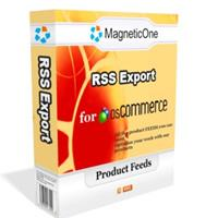 osCommerce RSS Export 7.6.7 screenshot. Click to enlarge!