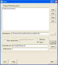 ySync 1.1.45 screenshot. Click to enlarge!